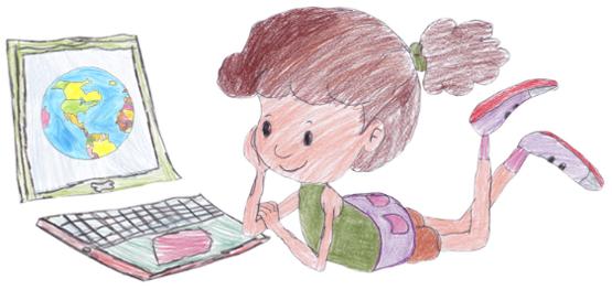 inovação na educação, menina e o computador